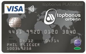 airberlin Visa Card Platinum Foto: airberlin