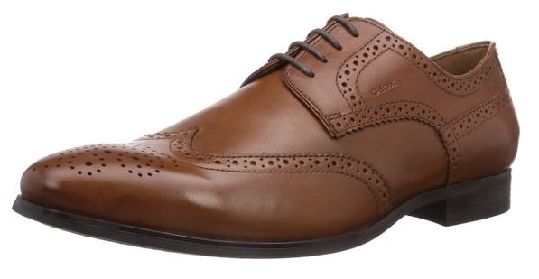 Geox U ALBERT 2FIT B Herren Brogue Schnürhalbschuhe Foto: Amazon